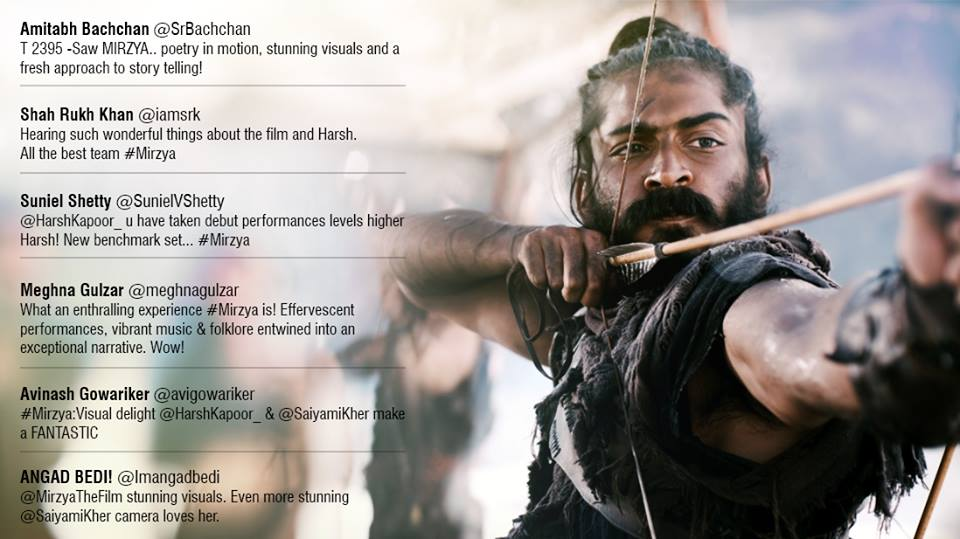 Mirzya 3rd day collection