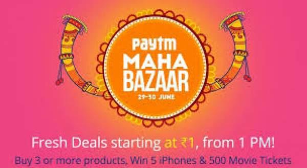 Paytm Maha Bazaar Sale 2016