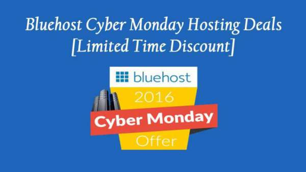 Bluehost Cyber Monday 2016