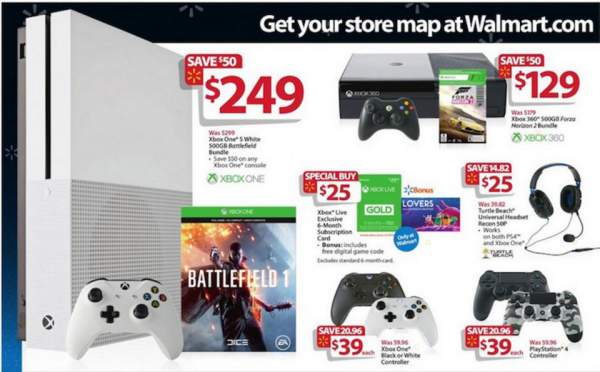 Walmart Black Friday gaming offers 2016 are strong. Image credit: Walmart via BestBlackFriday