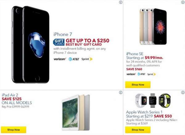 Best Buy iPhone deals are strong, but be aware of the weaker iPad and Apple Watch offers. Image credit: Best Buy via BestBlackFriday