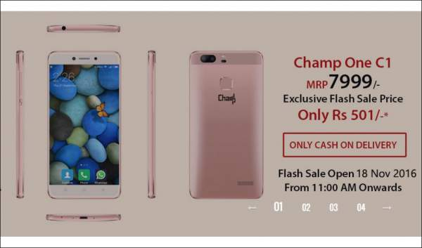 ChampOne C1 Flash Sale Buy Online Rs 501