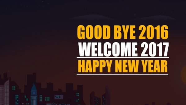 Goodbye 2016 Welcome 2017