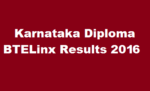 dte.kar.nic.in: DTE Karnataka Diploma Nov / Dec Results 2016 Declared @ www.btekarlinx.net