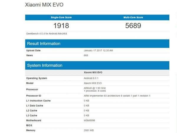 Xiaomi Mi MIX Evo Release Date, Specification, Price, Features