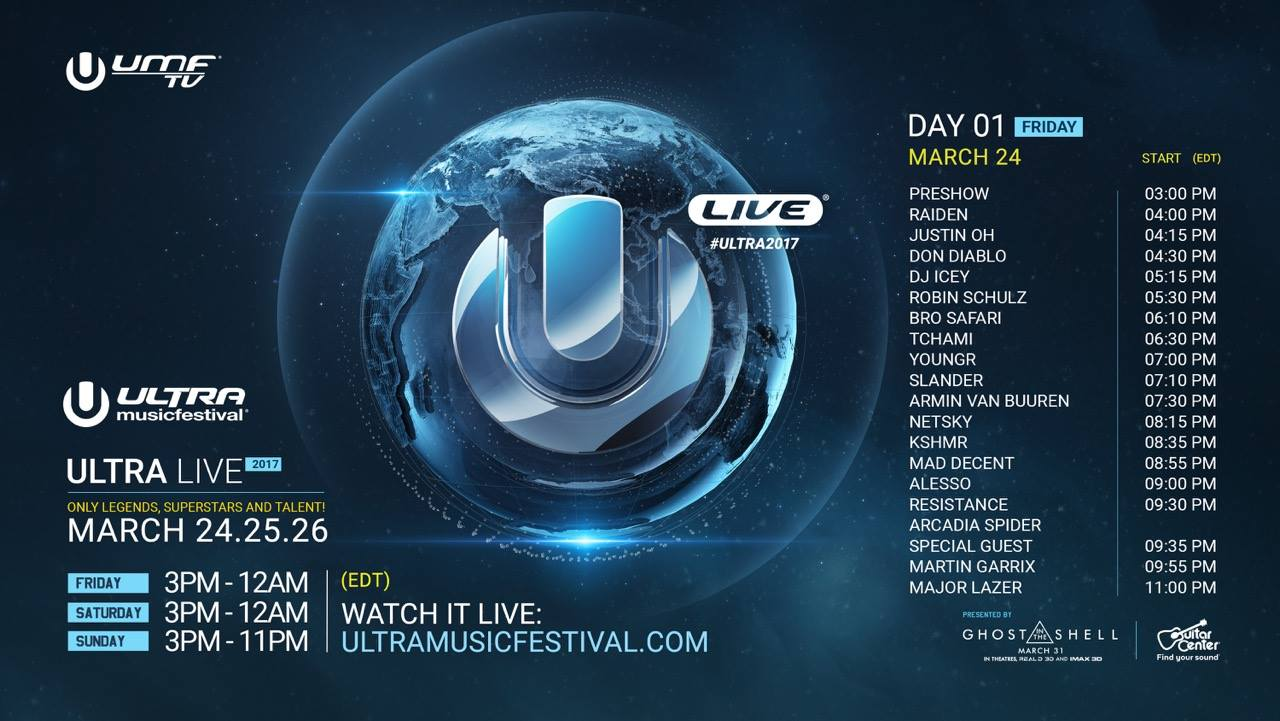 Ultra Music Festival 2017 Live Streaming: Watch Live For Free