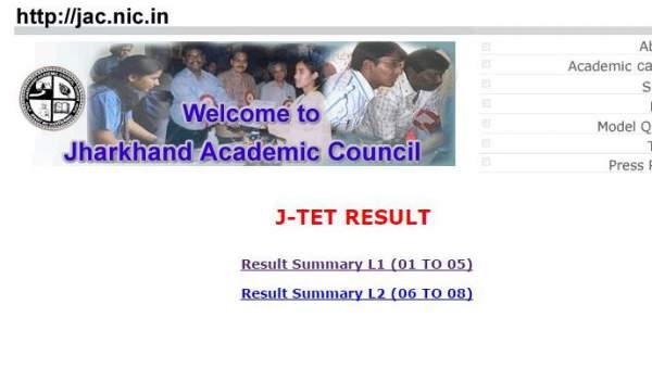 Jharkhand TET Result 2016