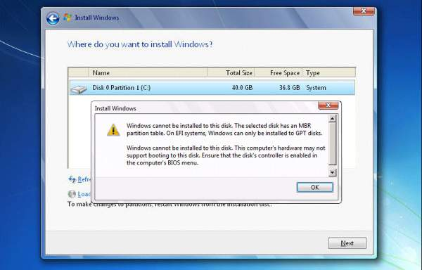 Windows Cannot Be Installed to This Disk solution, Windows Cannot Be Installed to This Disk fix, how to Windows Cannot Be Installed to This Disk error
