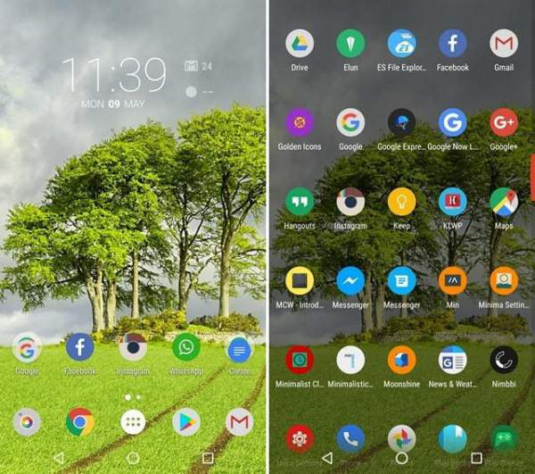 nature theme nova launcher themes