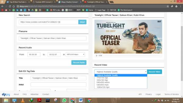 youtube to mp3 online converters