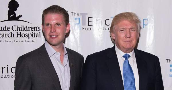 Eric Trump and his father Donald Trump