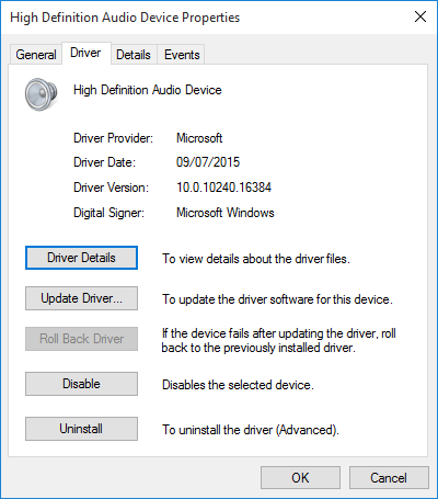 Windows 10 No Sound (Audio)
