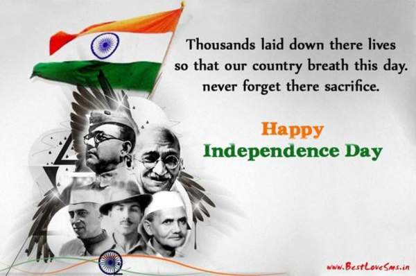 Happy Independence Day India 2018 Quotes Images: Wishes SMS ...