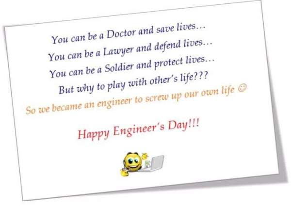 Engineers Day 2018 Funny Greetings