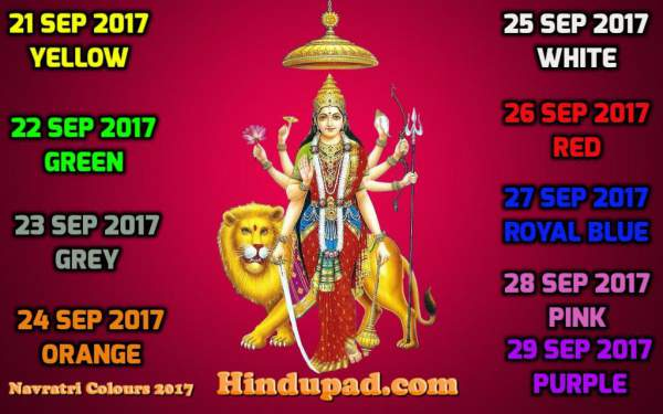 navratri colours 2017, navratri colors 2017, navratri 2017 colours, navratri 2017 colors, navratri 9 colours, navratri 9 colors