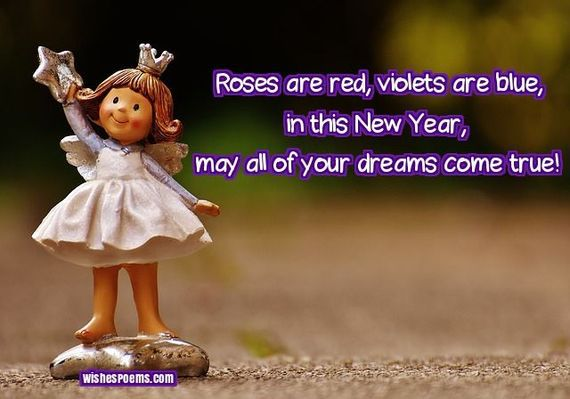 Roses are red, Violets are Blue - Happy New Year to you wishes image download