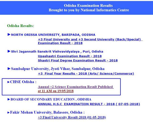 Odisha Plus 2 Results