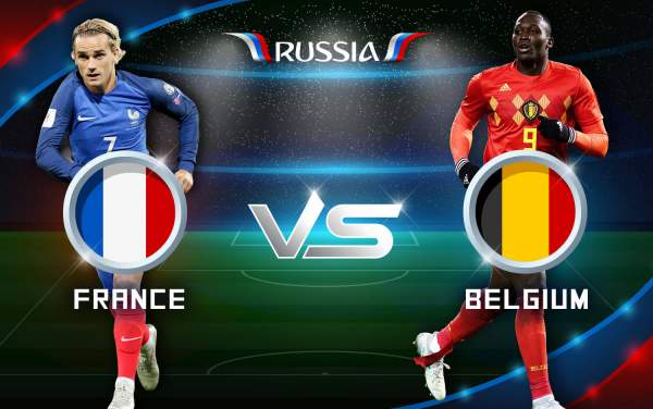 france vs belgium live streaming fifa world cup 2018 score