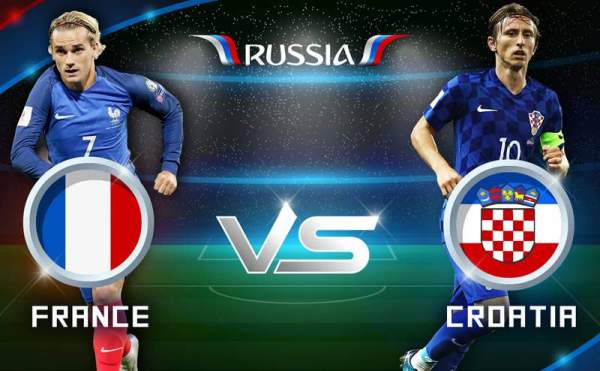 france vs Croatia live streaming score