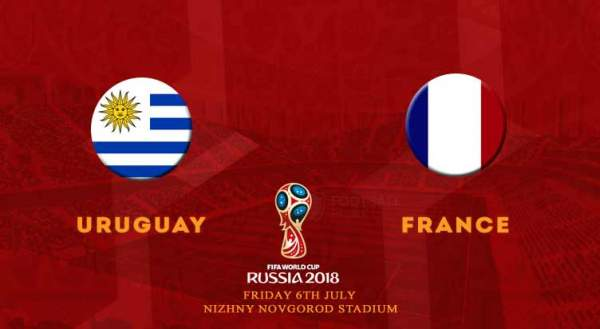 Uruguay vs France FIFA World Cup 2018 Live Streaming