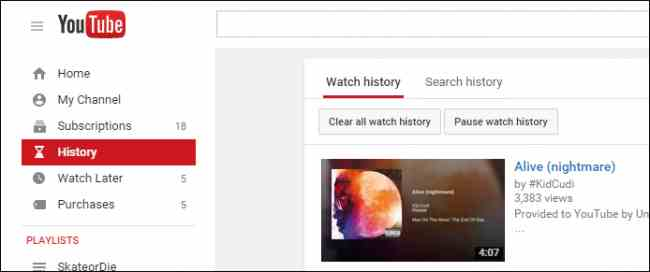 clear Youtube App History